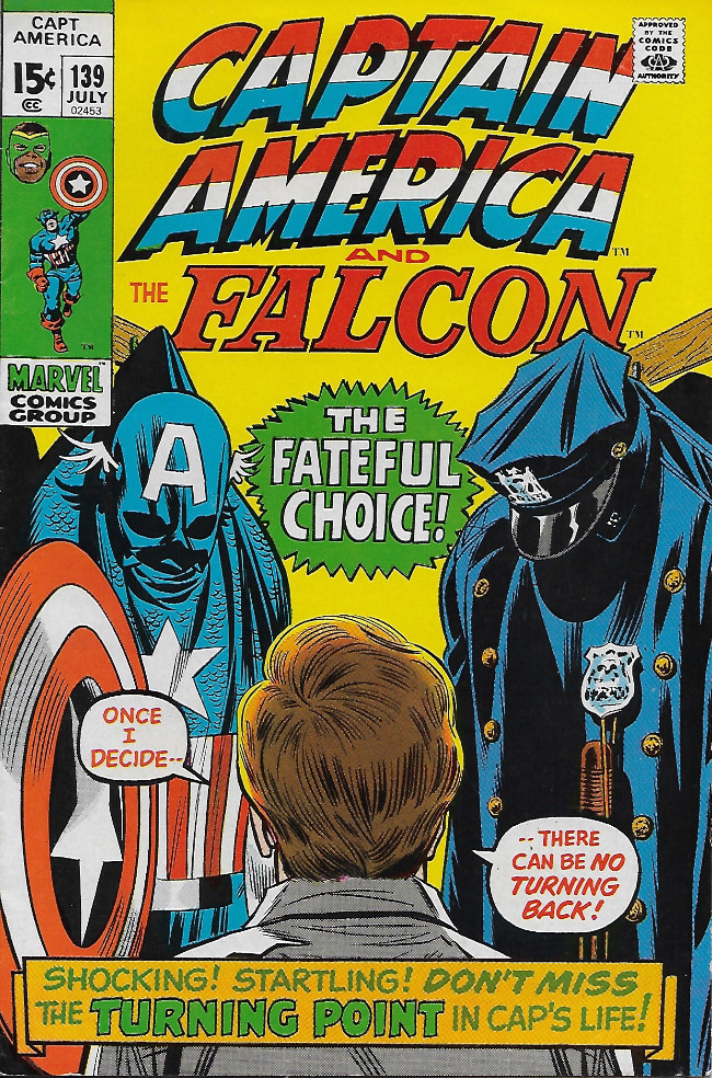 Couverture de Captain America (Marvel comics - 1968) -139- The Badge and The Betrayal!