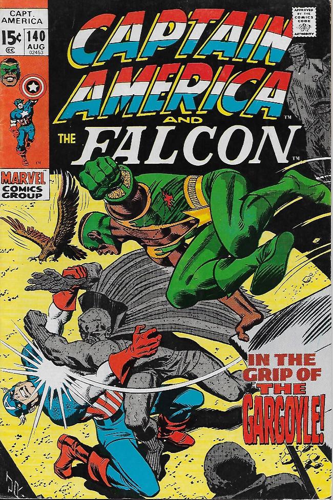 Couverture de Captain America (Marvel comics - 1968) -140- In The Grip of Gargoyle!