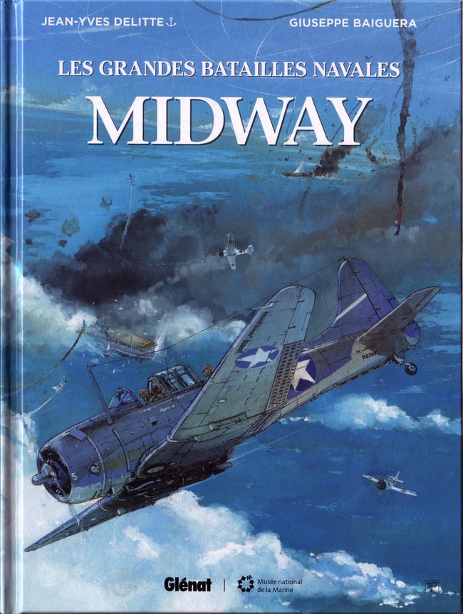 Couverture de Les grandes batailles navales -9- Midway