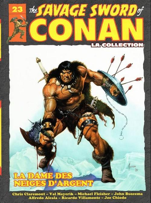 Couverture de Savage Sword of Conan (The) - La Collection (Hachette) -23- La dame des neiges d'argent