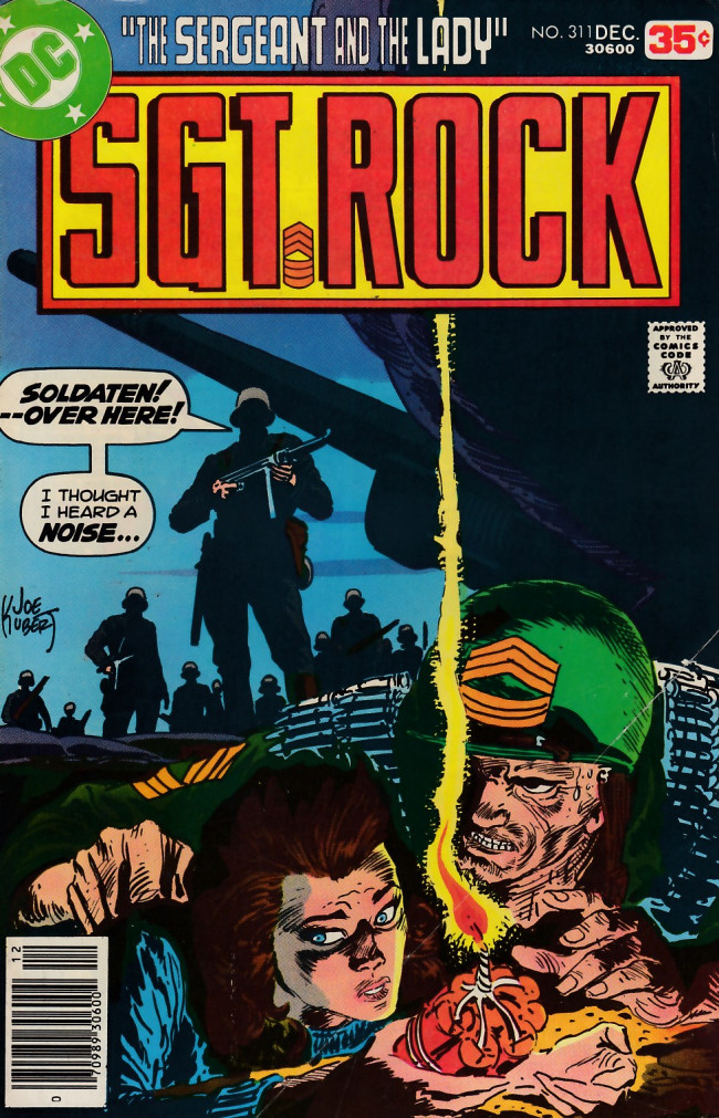 Couverture de Sgt. Rock (1977) -311- The Sergeant and the Lady!