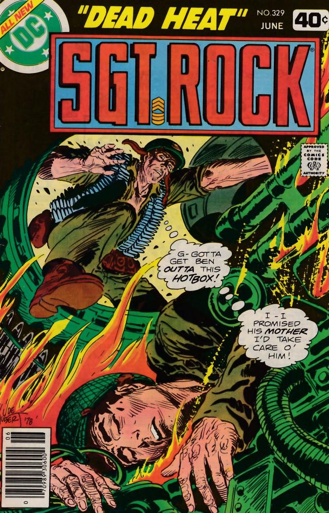 Couverture de Sgt. Rock (1977) -329- Dead Heat!