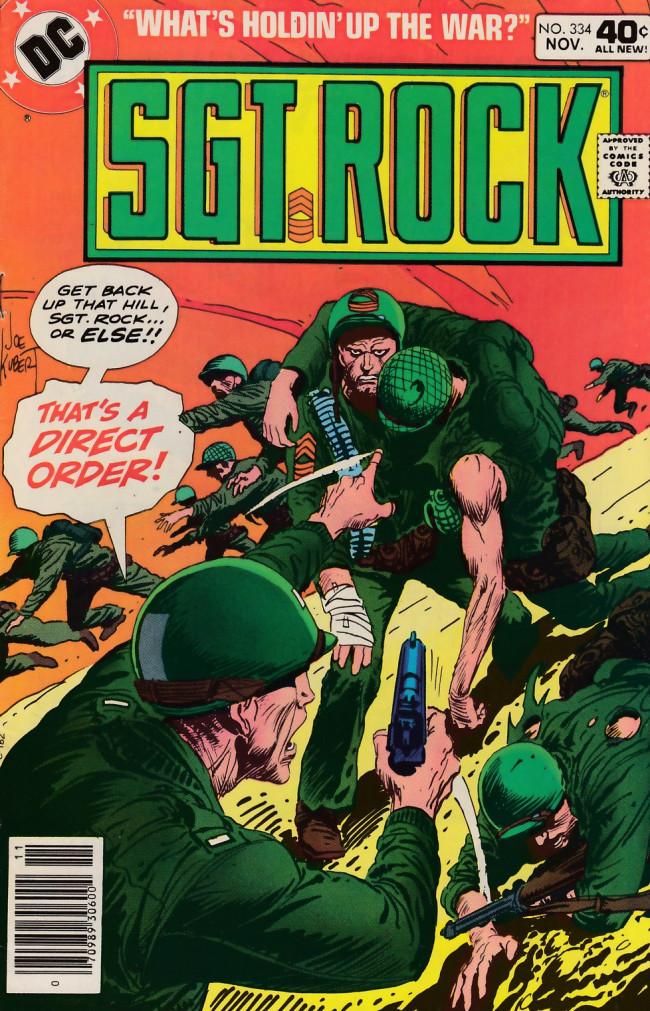 Couverture de Sgt. Rock (1977) -334- What's Holding Up The War?
