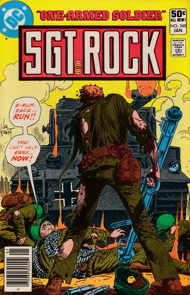 Couverture de Sgt. Rock (1977) -348- One-Armed Soldier