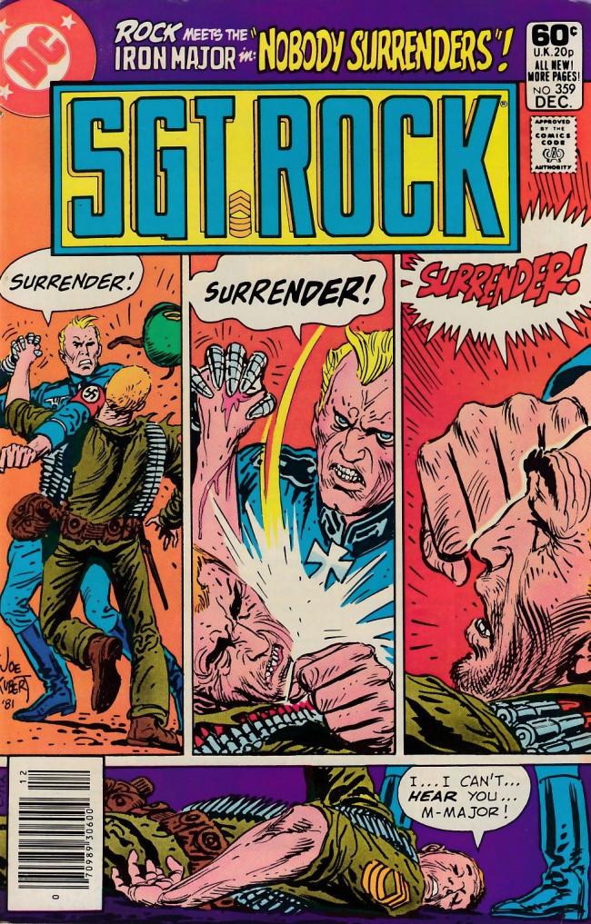 Couverture de Sgt. Rock (1977) -359- Nobody Surrenders