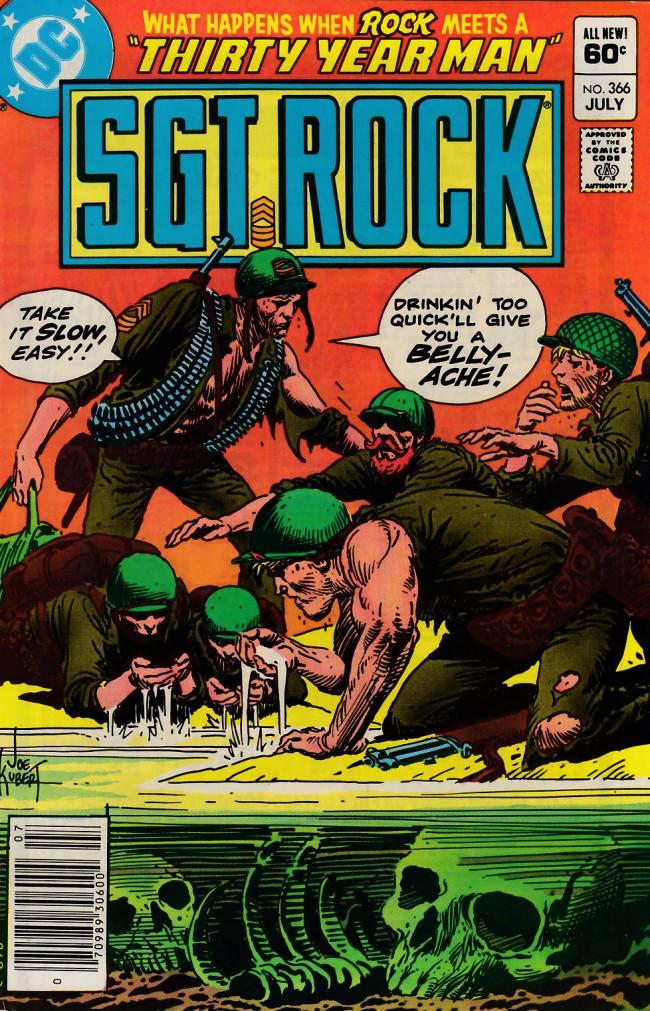 Couverture de Sgt. Rock (1977) -366- Thirty Year Man