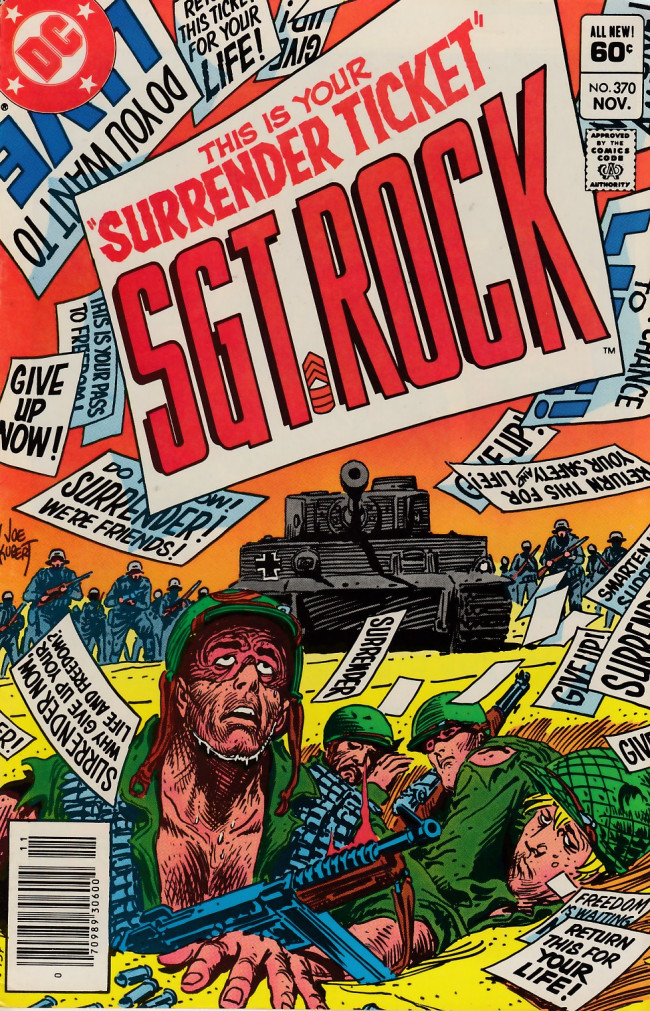 Couverture de Sgt. Rock (1977) -370- Surrender Ticket