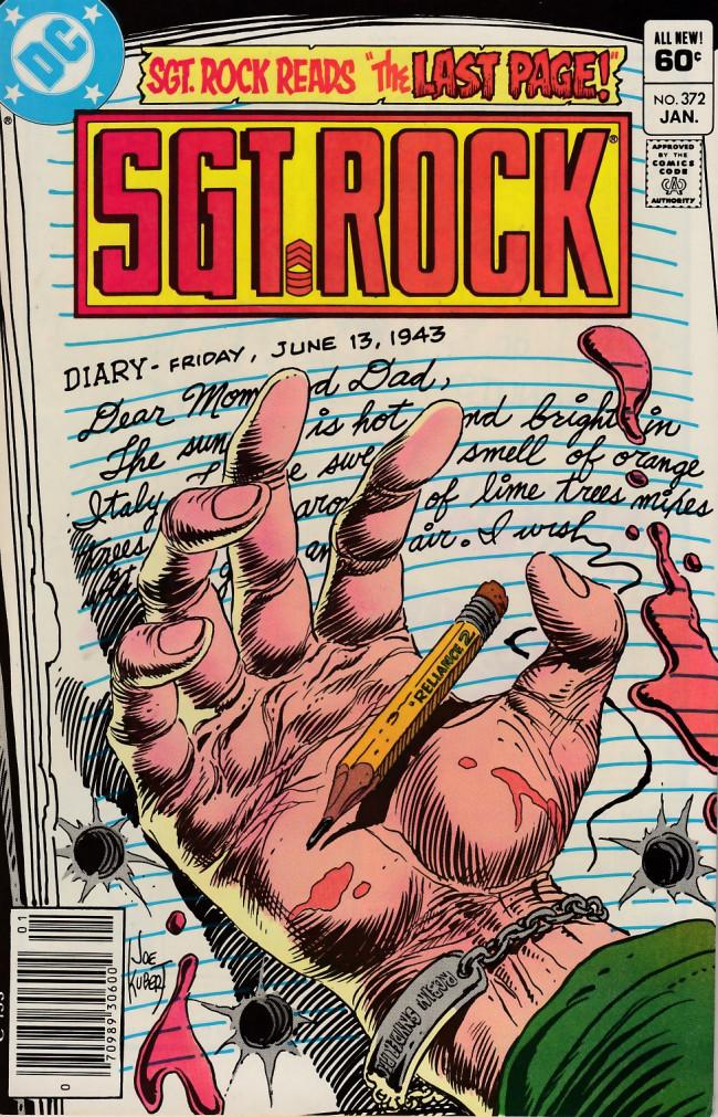 Couverture de Sgt. Rock (1977) -372- The Last Page