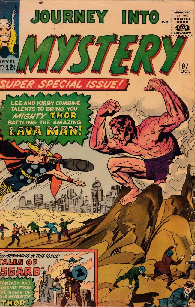 Couverture de Journey into Mystery (1952) -97- The Lava Man