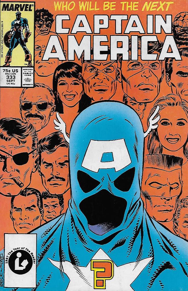 Couverture de Captain America (Marvel comics - 1968) -333- The Replacement