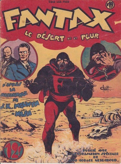 Couverture de Fantax (1re série) -19- Le désert de la peur