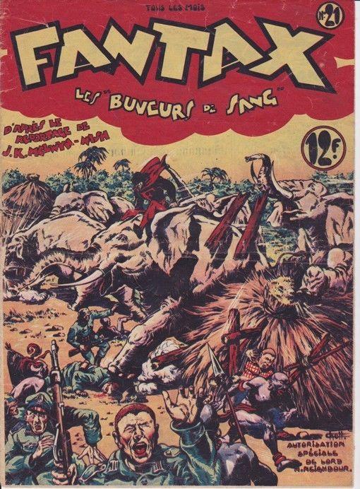 Couverture de Fantax (1re série) -21- Les buveurs de sang