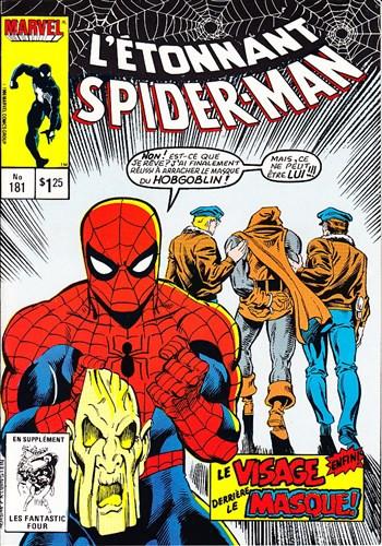 Couverture de L'Étonnant Spider-Man (Éditions Héritage) -181- Enfin démasqué !?