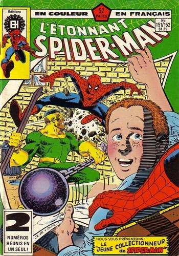 Couverture de L'Étonnant Spider-Man (Éditions Héritage) -151152- Et il frappe comme la foudre
