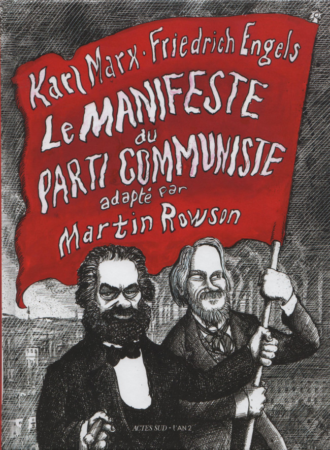 Couverture de Le manifeste du parti communiste (Rowson) - Le Manifeste du parti communiste