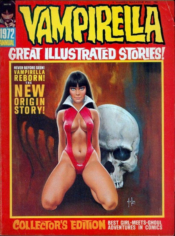 Couverture de Vampirella (Warren) -ANN 1972- Great illustrated stories !
