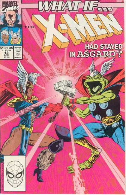 Couverture de What If? vol.2 (1989) -12- What If... The X-Men Had Stayed In Asgard?
