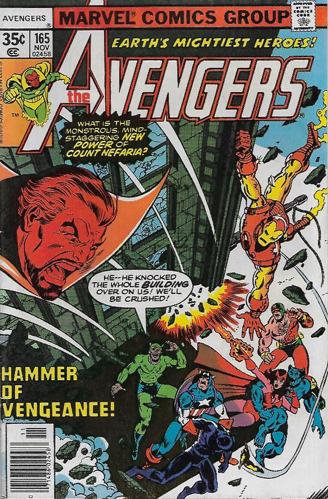 Couverture de Avengers Vol. 1 (Marvel Comics - 1963) -165- Hammer of Vengeance!