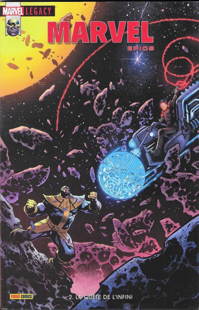 Couverture de Marvel Legacy - Marvel Epics (Marvel France - 2018) -2- La quête de l'infini