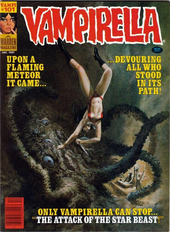 Couverture de Vampirella (Warren) -101- The attack of the Star Beast