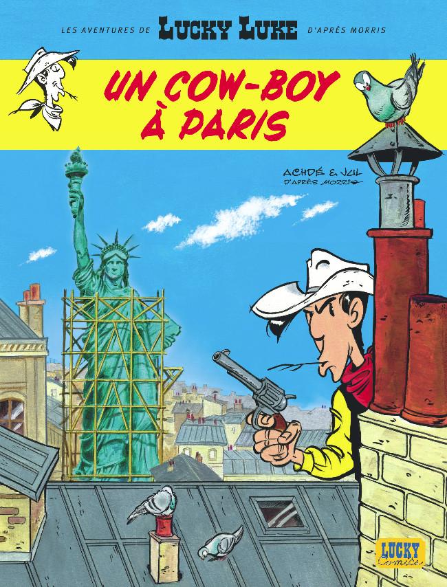 Couverture de Lucky Luke (Les aventures de) -8- Un cow-boy à Paris