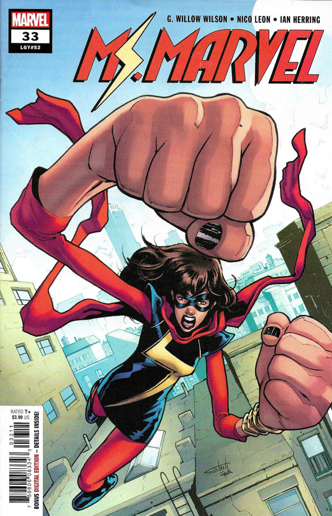 Couverture de Ms. Marvel (2016) -33- The Ratio Part 2