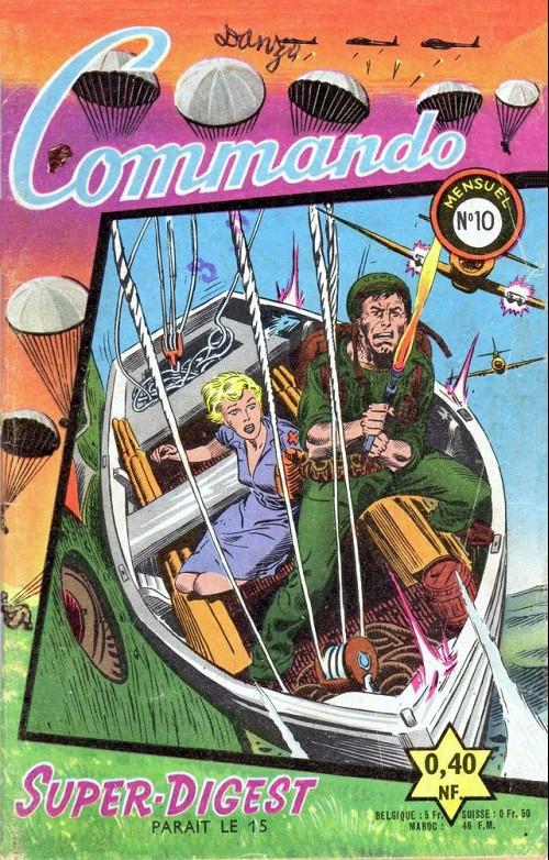 Couverture de Commando (1re série - Artima) -10- Le mitrailleur et la nurse