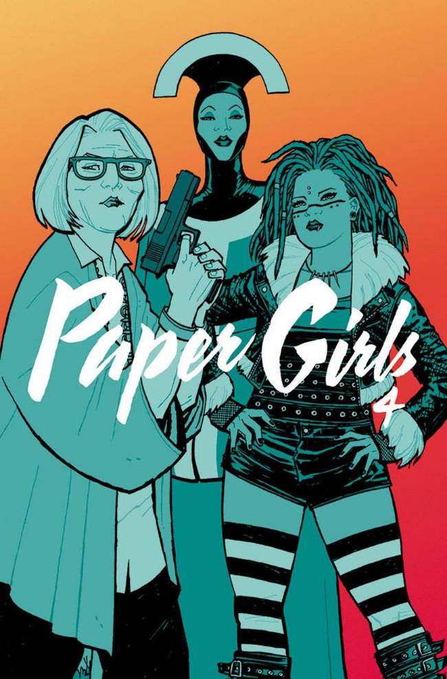 Couverture de Paper Girls (Image comics - 2015) -INT04- Paper Girls Volume 4