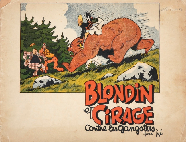 Couverture de Blondin et Cirage -2- Blondin et Cirage contre les gangsters