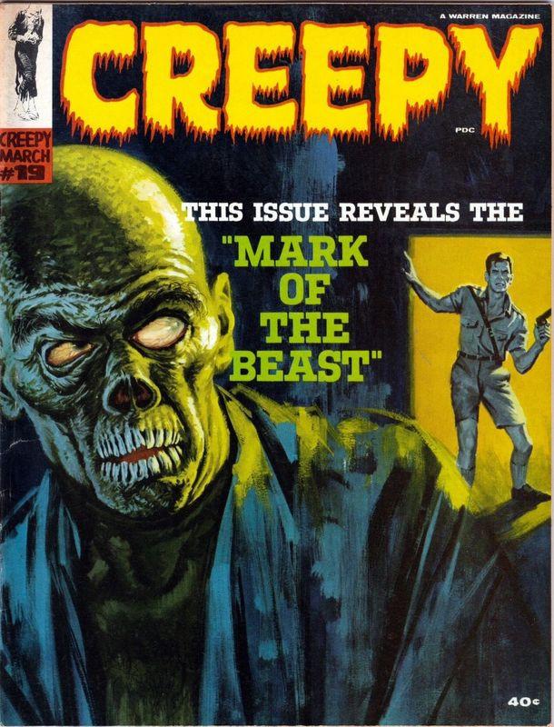 Couverture de Creepy (1964) -19- Mark of the Beast