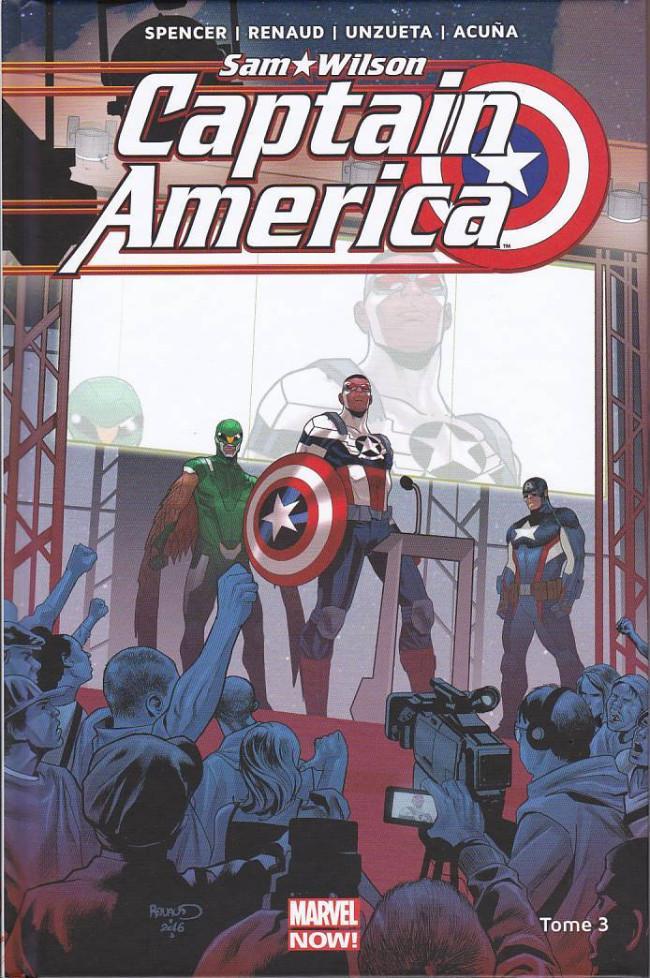 Couverture de Captain America : Sam Wilson -3- Qui mérite le bouclier ?