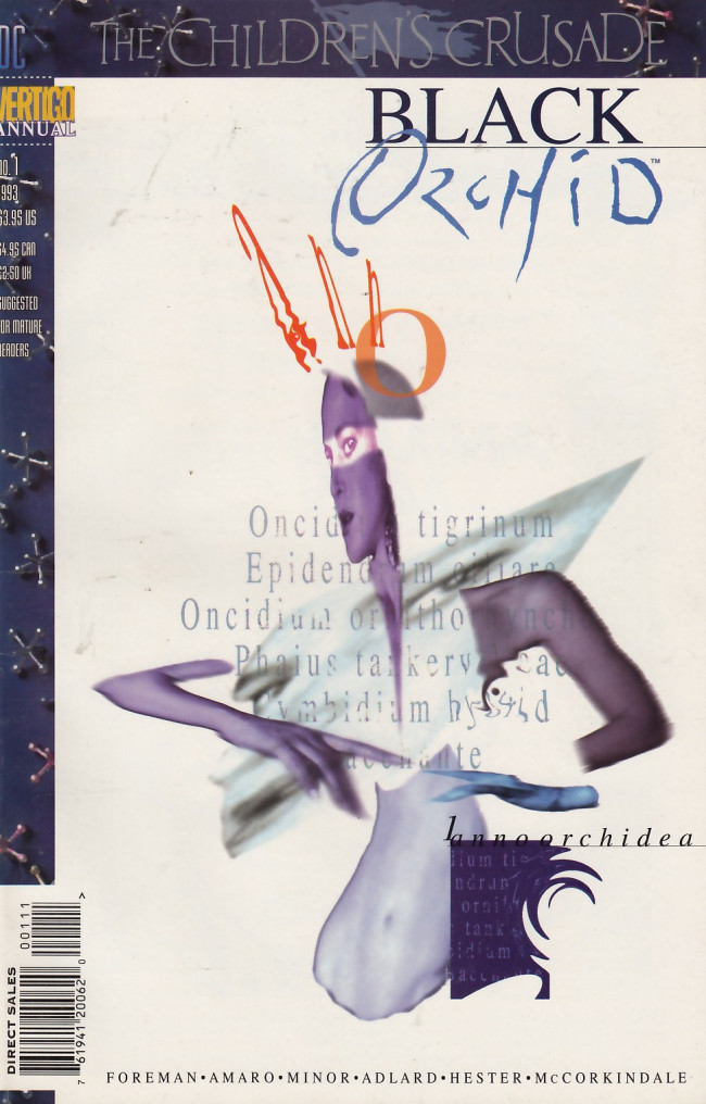 Couverture de Black Orchid (1993) -AN01- The Memoirs of an Epiphyte