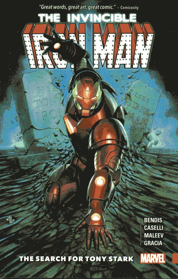 Couverture de The invincible Iron Man (2016) -INT- The Search for Tony Stark