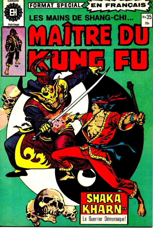 Couverture de Les mains de Shang-Chi, maître du Kung-Fu (Éditions Héritage) -35- Ve partie (Sir Denis Nayland Smith): L'affaire de l'agent qui mourut!