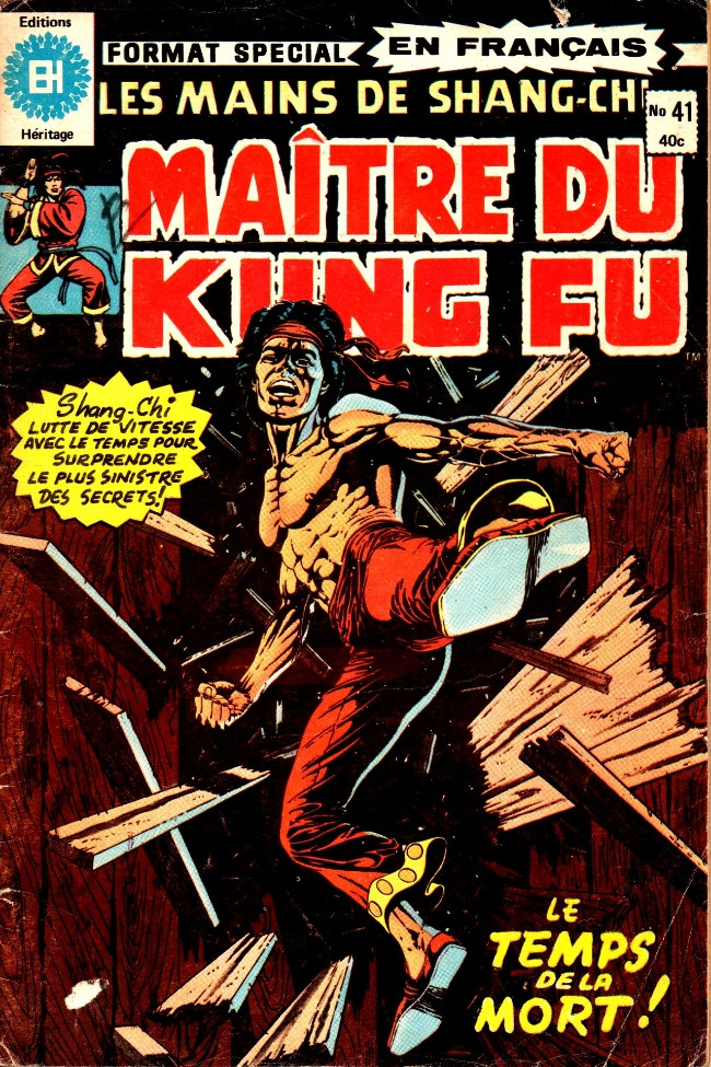 Couverture de Les mains de Shang-Chi, maître du Kung-Fu (Éditions Héritage) -41- Les âges de la mort!