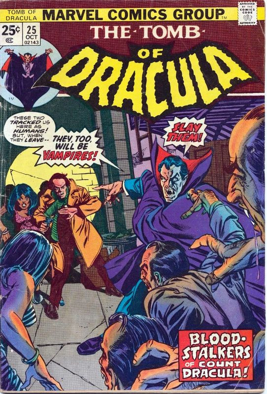 Couverture de The tomb of Dracula (1972) -25- Blood Stalkers of Count Dracula!