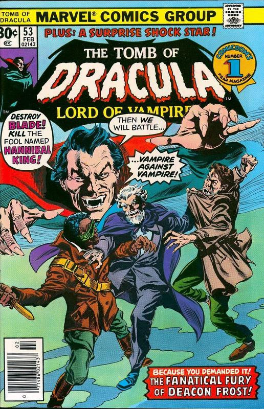 Couverture de The tomb of Dracula (1972) -53- The Fanatical Fury Of Deacon Frost!