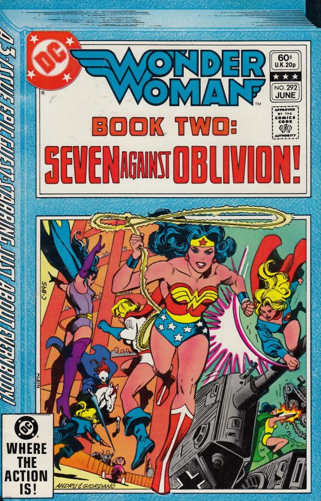 Couverture de Wonder Woman Vol.1 (DC Comics - 1942) -292- Book Two: Seven Against Oblivion!