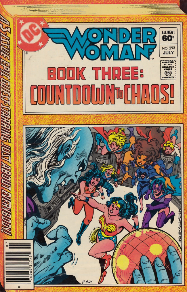 Couverture de Wonder Woman Vol.1 (DC Comics - 1942) -293- Book Three: Countdown to Chaos!