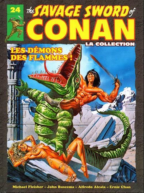 Couverture de Savage Sword of Conan (The) - La Collection (Hachette) -24- Les démons des flammes !