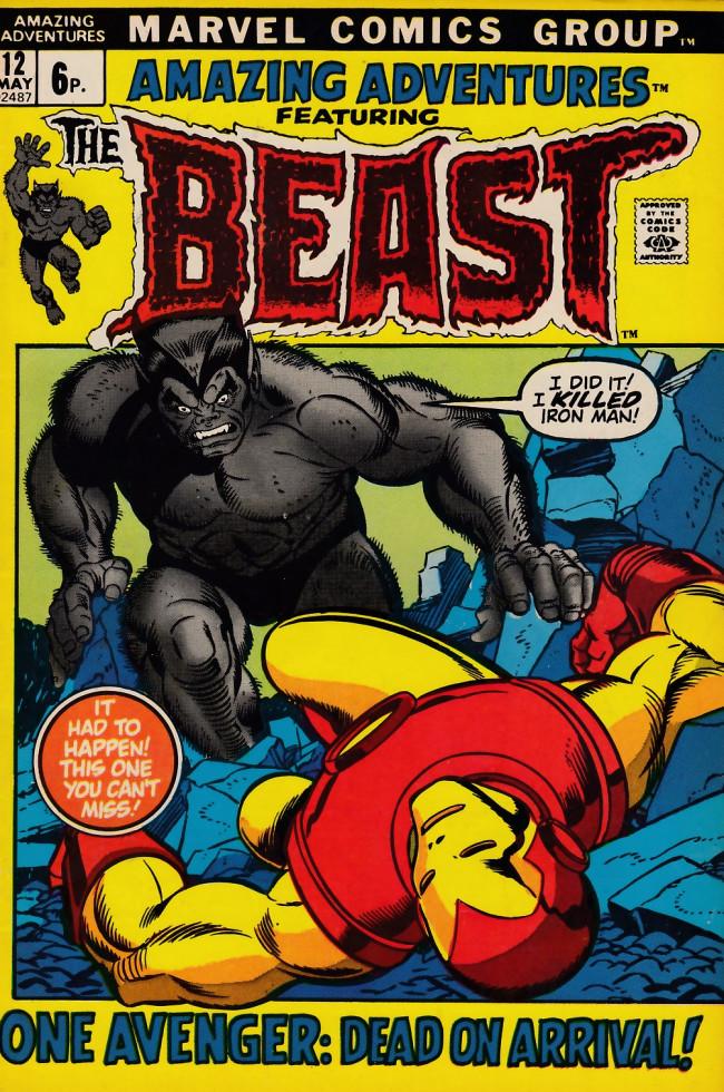 Couverture de Amazing Adventures (1970) -12UK- Iron Man: D.O.A.