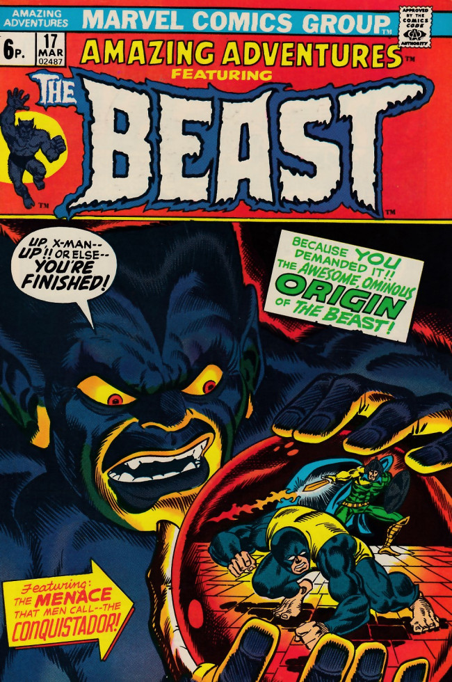 Couverture de Amazing Adventures (1970) -17UK- Birth of the Beast!