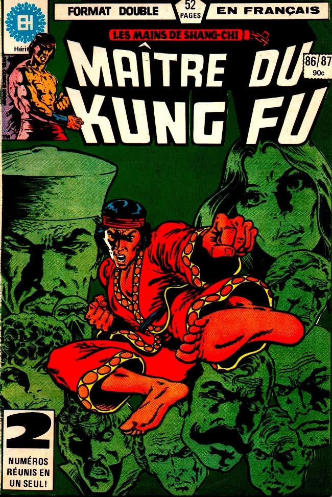 Couverture de Les mains de Shang-Chi, maître du Kung-Fu (Éditions Héritage) -8687- Rouge de croc et de griffe, tout amour perdu