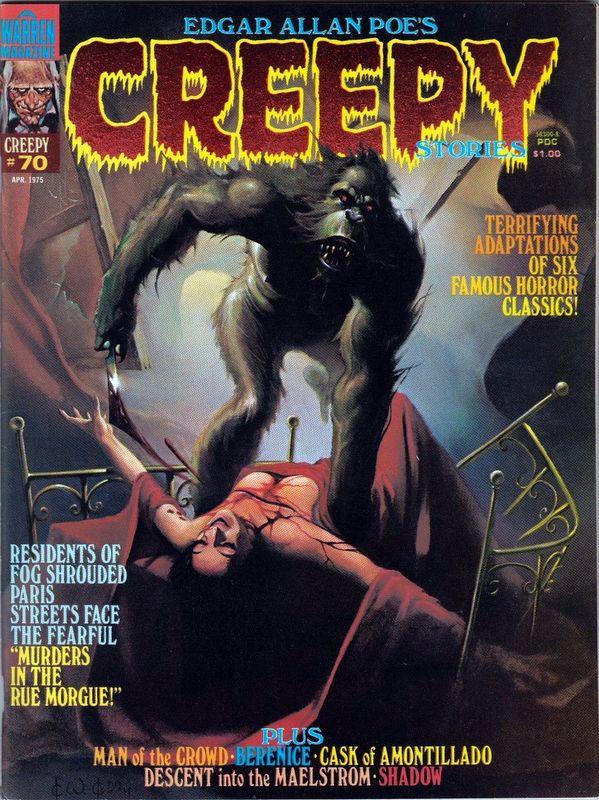 Couverture de Creepy (1964) -70- The Murders in the Rue Morgue