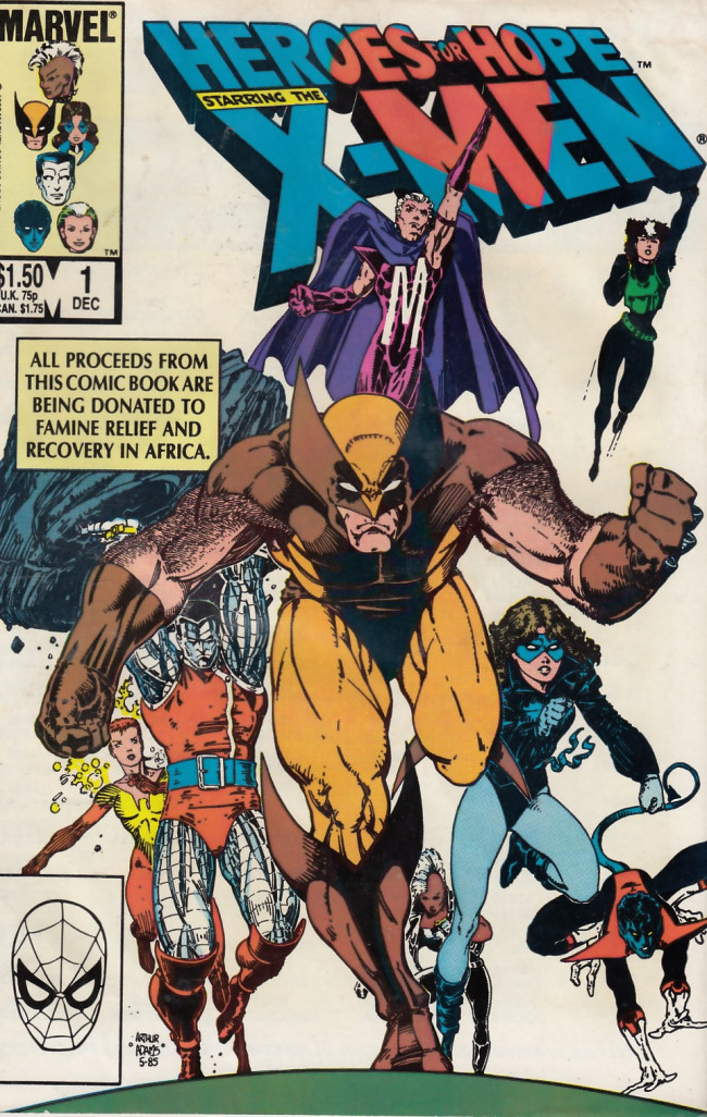 Couverture de Heroes for Hope starring The X-Men (1985) -1- Heroes for Hope starring The X-Men