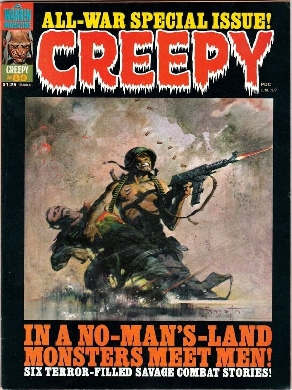 Couverture de Creepy (Warren) -89- In a No-Man's-Land Monsters Meet Men!