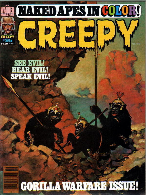 Couverture de Creepy (1964) -95- See Evil! Hear Evil! Speak Evil!