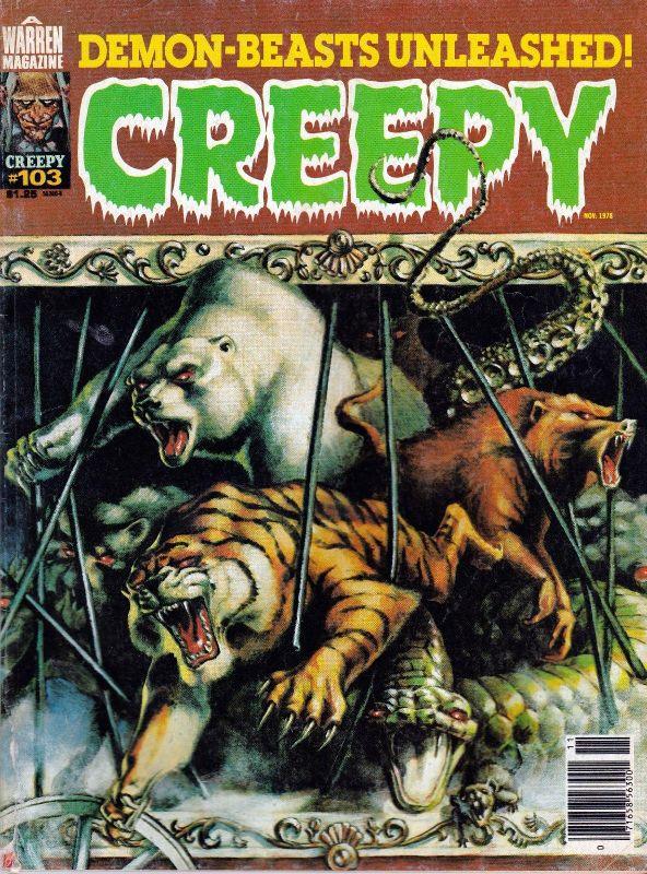 Couverture de Creepy (1964) -103- Demon-Beasts Unleashed!