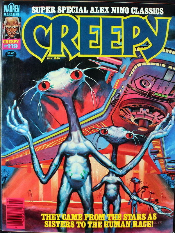 Couverture de Creepy (1964) -119- They Came from the Stars as Sisters to the Human Race!
