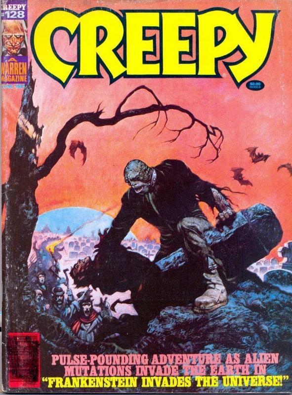 Couverture de Creepy (1964) -128- Frankenstein Invades the Universe!